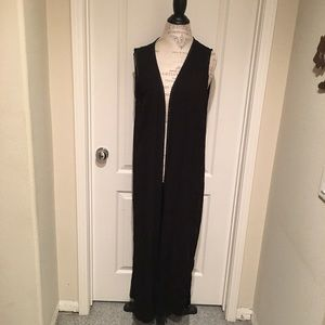 Black H&M duster. Size 12